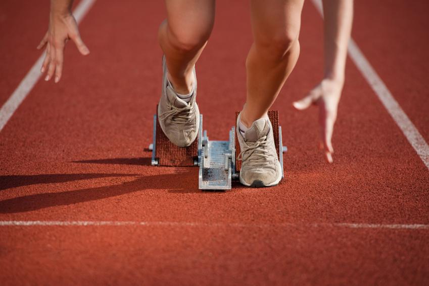 Start niski w butach szosowych iStock_000013543346Small