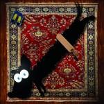 Pies na dywanie Rys. Krzysiek Dołęgowski