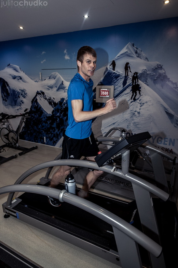Trening w warunkach hipoksji w specjalnej komorze. Fot. Julita Chudko