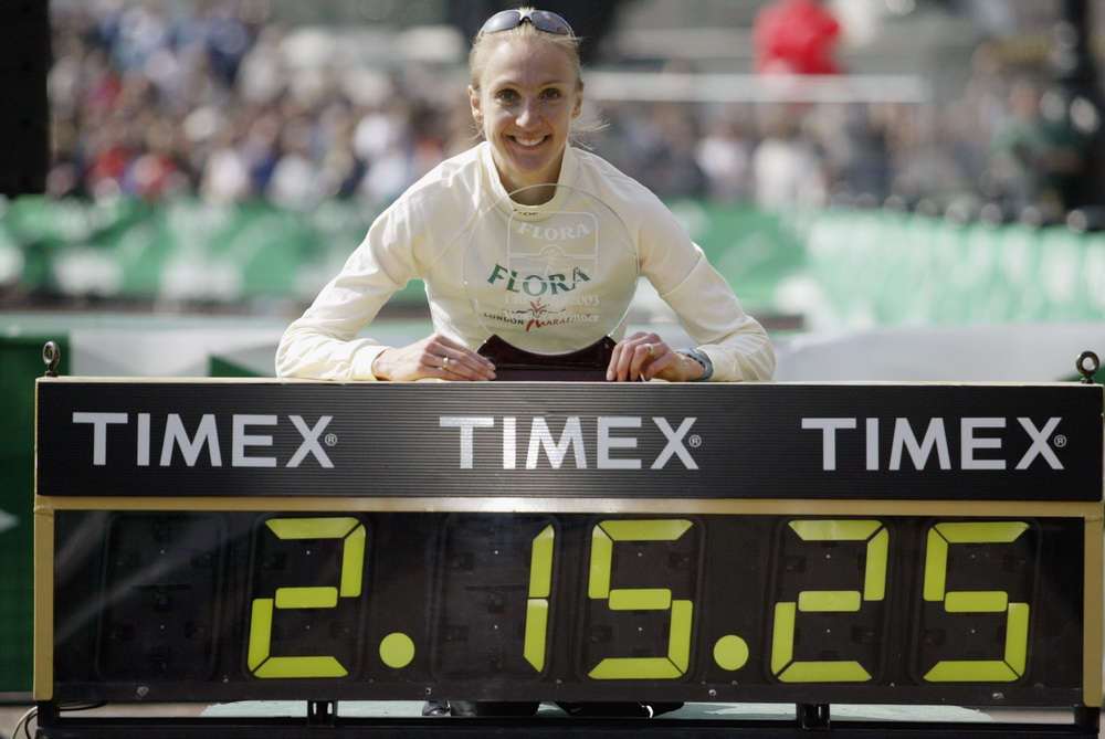 Paula Radcliffe of Great Britain