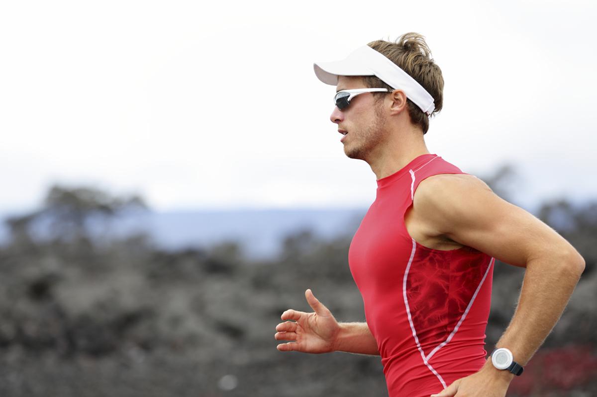 Running triathlon athlete