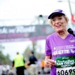 Harriette Thompson - 92-letnia maratonka, najstarsza na świecie podczas maratonu w San Diegio. Fot. Getty Images