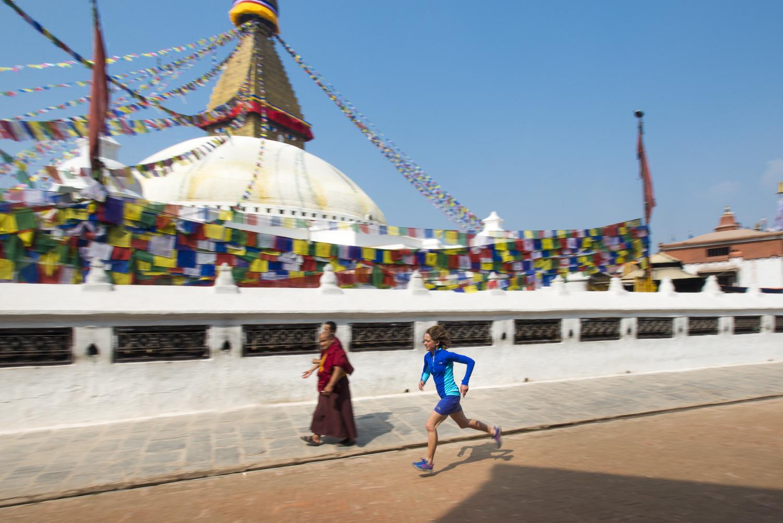 Lizzy Hawker w Katmandu. Fot. Alex Treadway