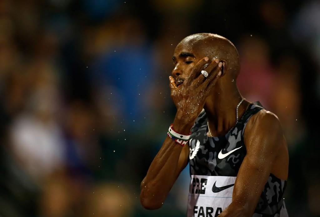 Mo Farah zwycieza na 5000 m w Prefontaine Classic w Eugene Fot Getty Images 475203534
