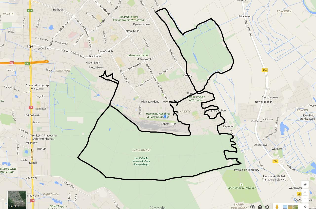 kabaty mapa
