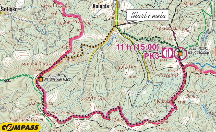wycieczka biegowa Wielka Racza i Przegibek