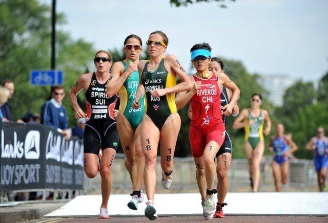 Triathlon - drafting w bieganiu