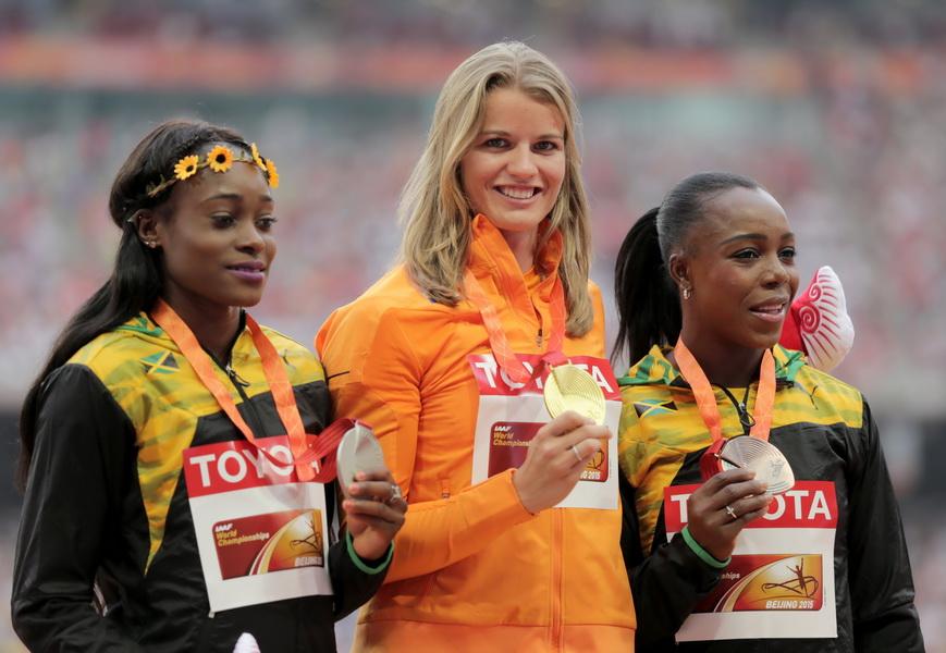 Dafne Schippers - złota medalistka mistrzostw świata w lekkoatletyce w Pekinie. W mistrzostwach Europy 2016 również była niepokonana. Fot. PAP