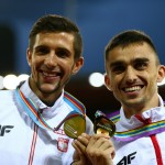 Kuciapski i Kszczot podczas 22. Mistrzostw Europy w Lekkoatletyce w Zurychu. Adam zdobył złoto, Artur srebro w biegu na 800 m. Fot. Getty Images.