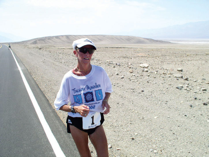 Pam Reed na Badwater. Fot. Badwater.com