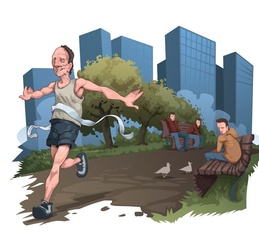 Starsi biegacze. Fot. Bartek Różycki