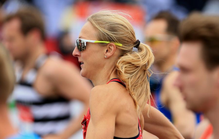 Paula Radcliffe podczas maratonu w Londynie. 26 kwietnia 2015 roku. Fot. Getty Images
