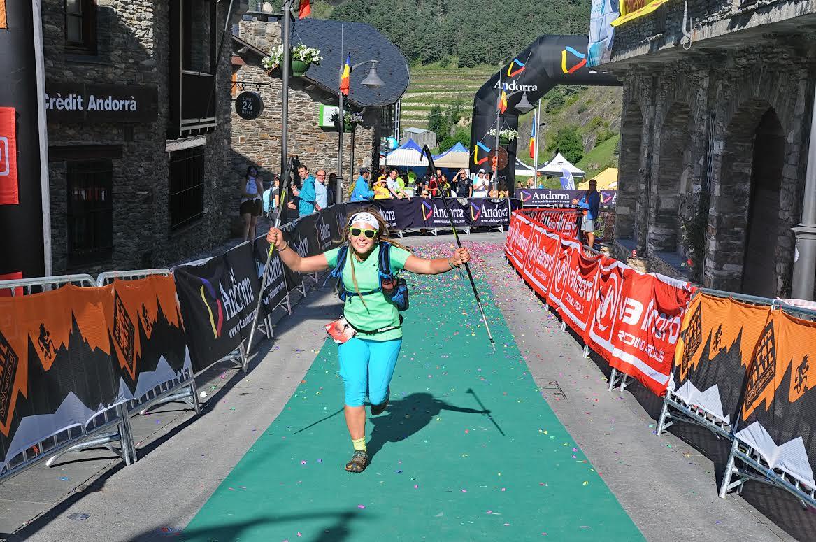 Andorra Ultra Trail Iwona na mecie