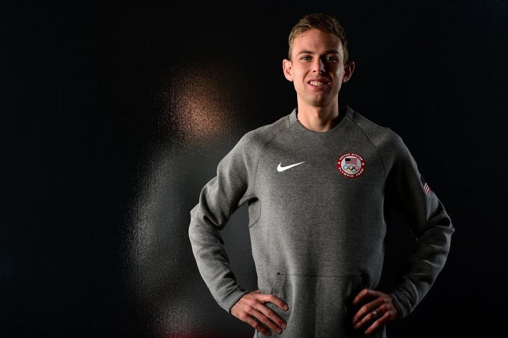 LOS ANGELES, CA - NOVEMBER 18: Track and field athlete Galen Rupp poses for a portrait at the USOC Rio Olympics Shoot at Quixote Studios on November 18, 2015 in Los Angeles, California. (Photo by Harry How/Getty Images)
