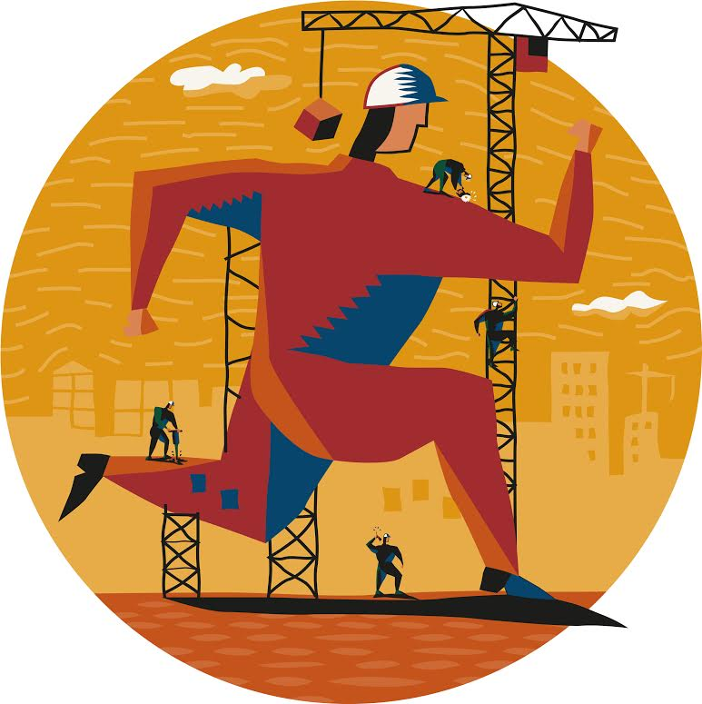 Budowa bazy biegowej. Rys. Getty Images