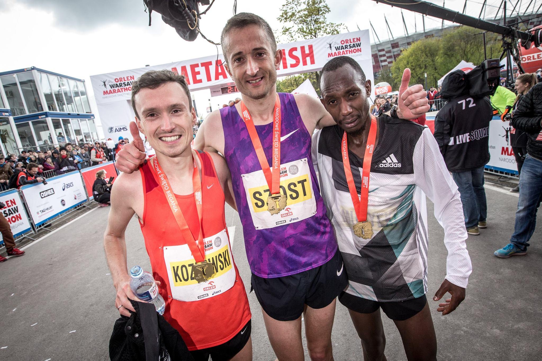 Trojka pierwszych na Orlen Warsaw Marathon