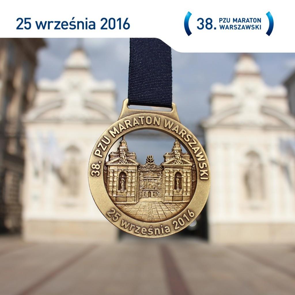 Zdjęcie medalu Maratonu Warszawskiego