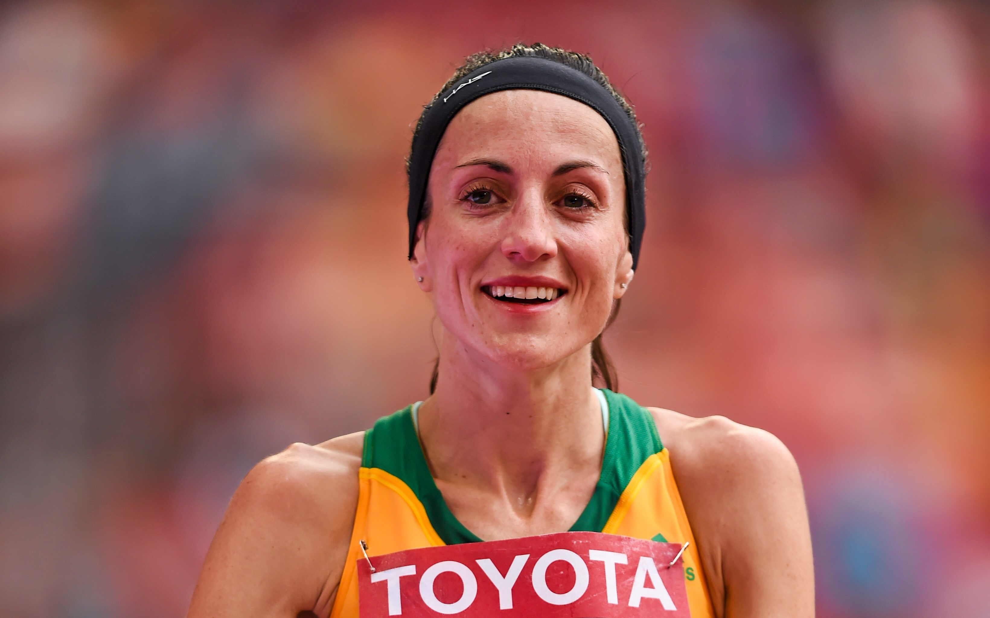 30 August 2015; Sinead Diver, from Belmullet, Co. Mayo, representing Australia, following her 21st place finish in the Women's Marathon event. IAAF World Athletics Championships Beijing 2015 - Day 9, National Stadium, Beijing, China. Picture credit: Stephen McCarthy / SPORTSFILE (Photo by Sportsfile/Corbis via Getty Images)