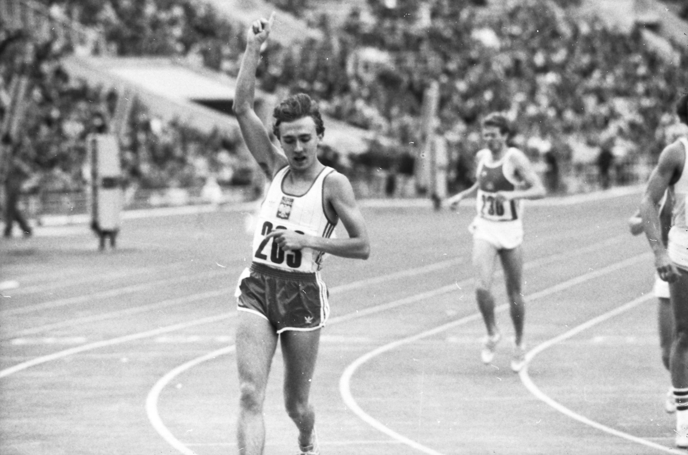 ZSRR, Moskwa, 19.08.1984. Zawody Przyjaźni. Nz. lekkoatleta, biegacz Ryszard Ostrowski (awol) PAP/Teodor Walczak