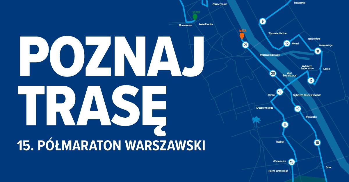 trasa półmaraton warszawski