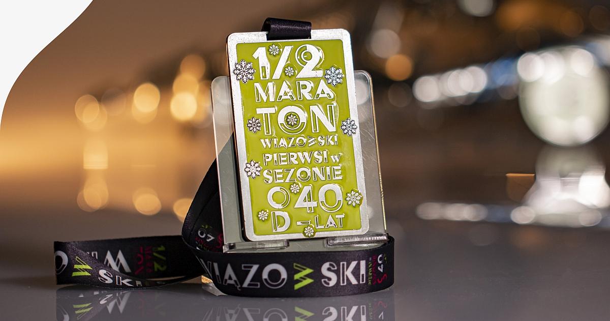Taki medal otrzymają uczestnicy 40. Półmaratonu Wiązowskiego.